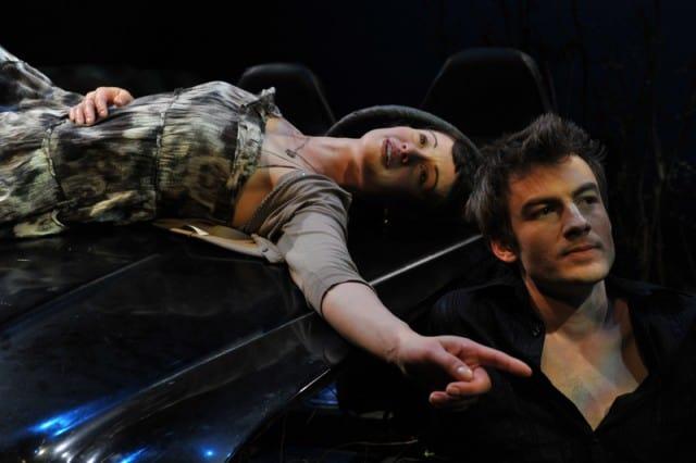CHLOË BRONZAN as JULIA points out the constellation to PATRICK ALPARONE as DANNY in Trevor Allen's LOLITA ROADTRIP