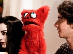 Satan's Spawn (Kacey Rohl), Bootsy, and David (Amitai Marmorstein Photo by Candice Albach.