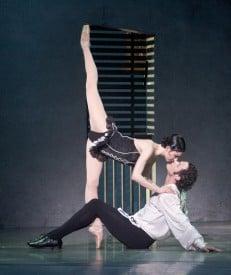 """Alexsandra Meijer as Carmen and Jeremy Kovitch as Don José. From Scene 3 of CARMEN... """"The Room""""."""