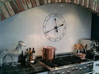 Marble tile tick-tock
