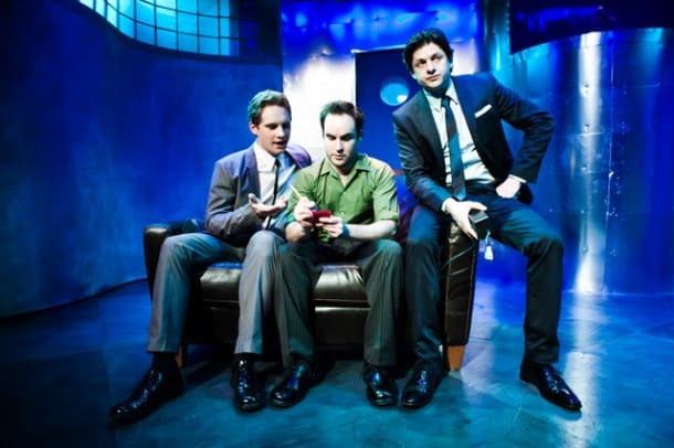 Craig Marker, Gabriel Marin & Cole Alexander Smith in 'Wirehead' at SF Playhouse.