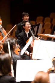 Cellist Nathan Chan of the San Francisco Youth Orchestra