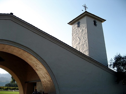 The iconic tower at Robert Mondavi Winery in Napa.