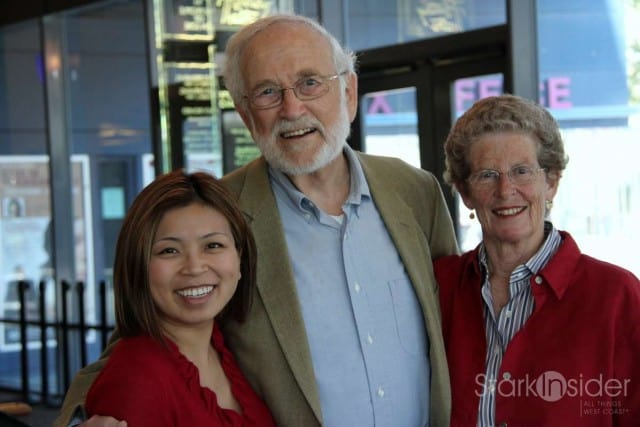 Sandwiched in Red: Philip Hammer flanked for fun by Loni and former San Jose mayor Susan Hammer.