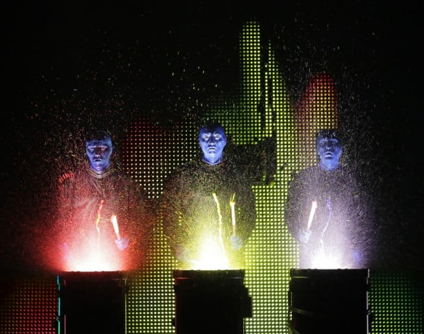 Blue Man Group on tour at the Golden Gate Theatre, San Francisco.