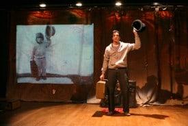 Lorenzo Pisoni in his one-man show, Humor Abuse.