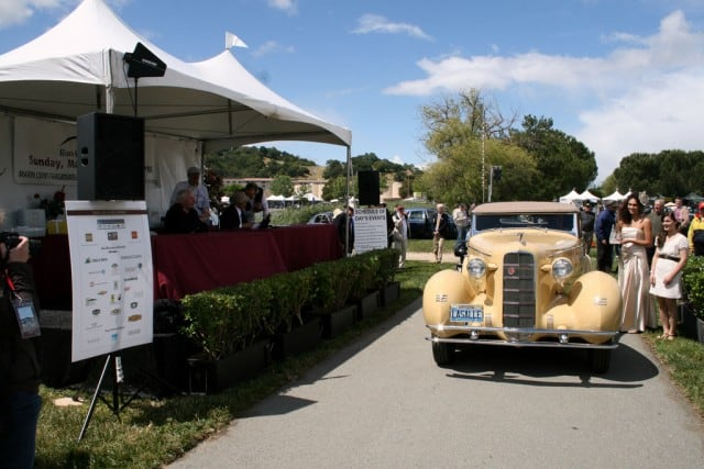 1934 LaSalle Series 350 convertible, the style leader of its day, owned by Jason and Ben Solomon of Novato, took home Best of Show - Concours d'Elegance.