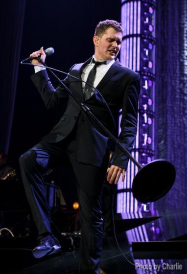 Michael Buble performs in Portland.