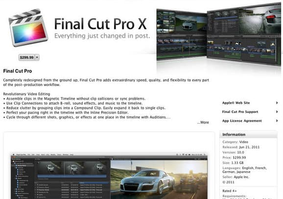 Final Cut Pro X early reviews not good - Apple blocks the masses