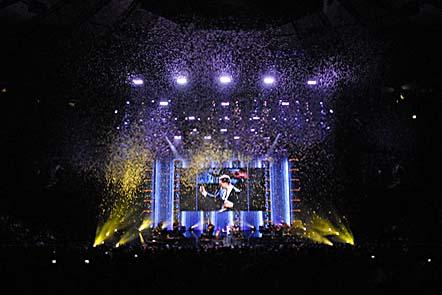 Michael Buble performs on his Crazy Love concert tour.