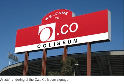 Artist's Rendering of Overstock O.co Coliseum sign