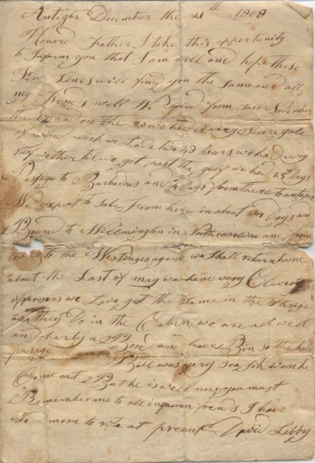 19th century letter