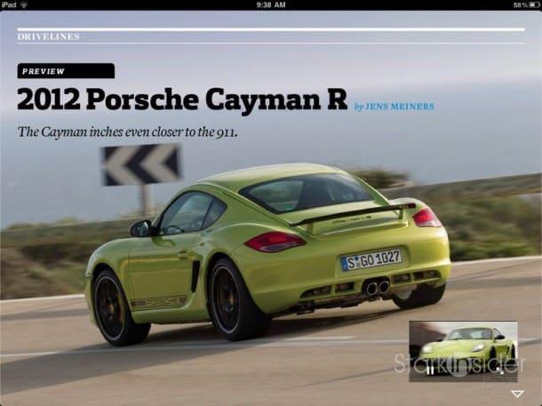 2012 Porsche Cayman R - Car & Driver on iPad