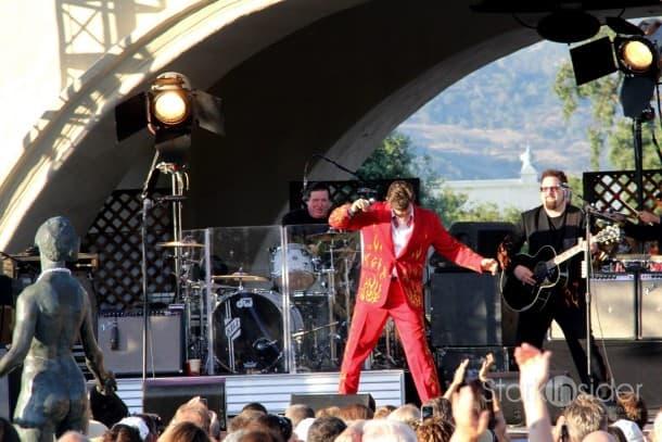 Chris Isaak performs at Mondavi Winery July 2011