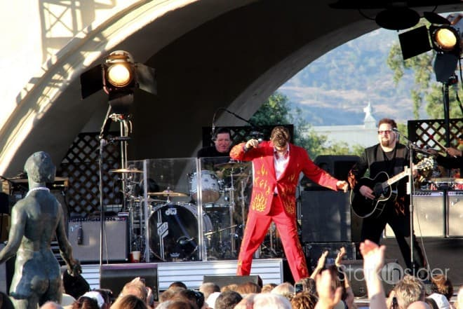 Chris Isaak performs at Mondavi Winery July 2011
