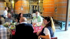 The Godfather of film and wine, Francis Ford Coppola, joins us for lunch upstairs in the open air barrel room.