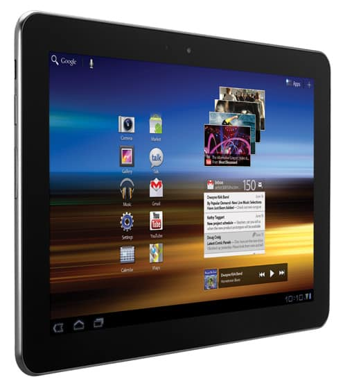 Samsung Galaxy Tab 10.1: Svelte and fast.