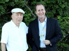 Jim Concannon with his son John at their winery in Livermore.