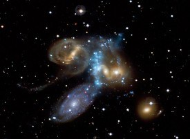 Galaxy Collision in Action (NASA)