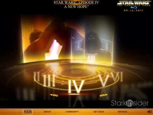 Star Wars Blu-Ray Preview on iPad