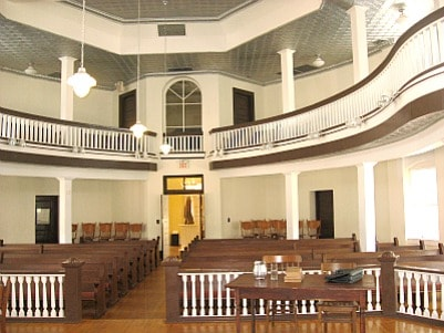 The courthouse balcony