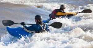 Kayaking Brennan's wave
