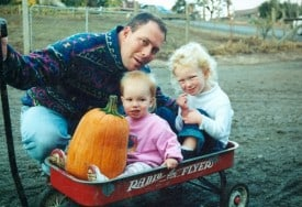 Winemaker James MacPhail wil his two daughters.