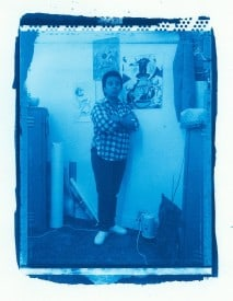 Artist Studio Self-Portrait Collaboration, Cyanotype print series. Art in Corrections, 1987