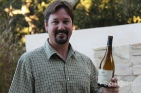Monterey winemaker Peter Figge with his '09 Chard.