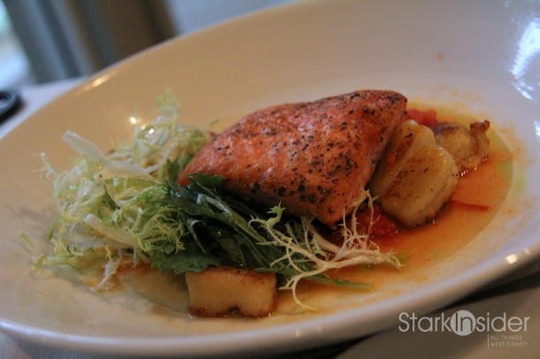 Salmon and potato gnocchi.