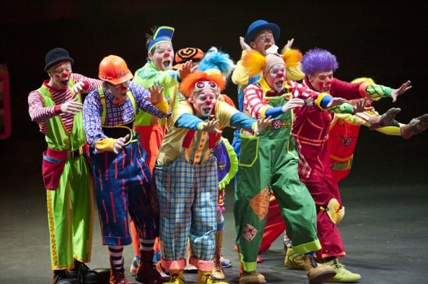 A large Circus needs a large number of Clowns!