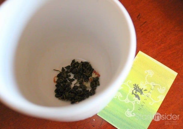 Naivetea's Passionfruit Oolong Tea. I was surprised by the intensity of the passionfruit scent. The fragrance was bright and lively when I opened the package and sustained through brewing and enjoyment. Although I still prefer the traditional teas offered in this line, for those that like fruit infusion in your teas, this is a must try.