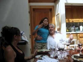 Flashback: a shy Lorenzo Petroni. (more wine glasses please)