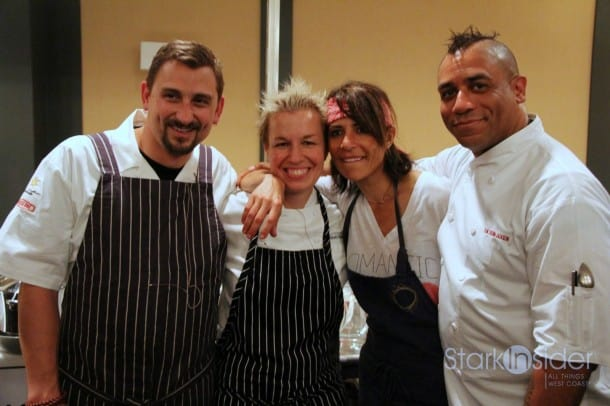 Chefs Chris Cosentino, Elizabeth Falkner, Dominique Crenn and Russell Jackson battle it out with illy coffee for two great causes: Meals on Wheels of San Francisco and Golden Gate Restaurant Association Scholarship Foundation.