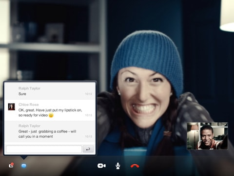 Smile: The Skype App for iPad is here.