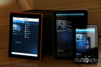 Sonos Play:5 - pick a controller, any controller. Left to Right: Apple iPad, Samsung Galaxy Tab 10.1, Samsung Galaxy Tab