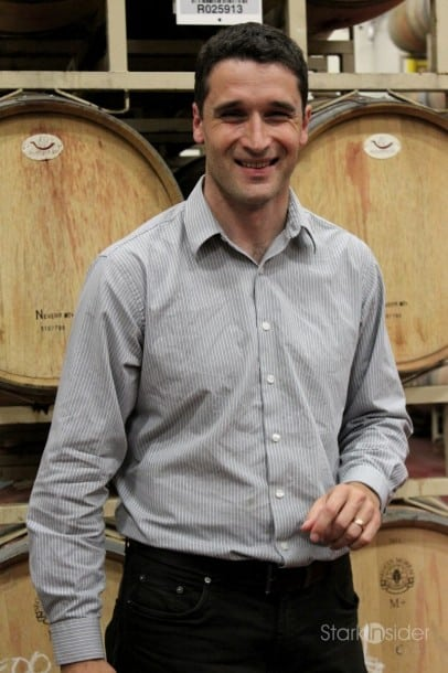 William Hill Estate winemaker Ralf Holdenried. Rumor, at least according to the women, is that he's a young, German Richard Gere.