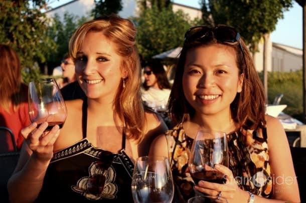 Dalia Ceja (Ceja Vineyards Wine) and Loni Kao Stark taste the William Hill Estate Meritage.
