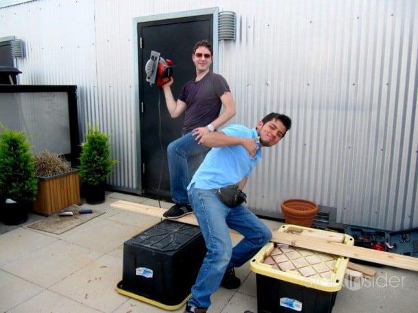 Vegetable Planter Box Building Begins