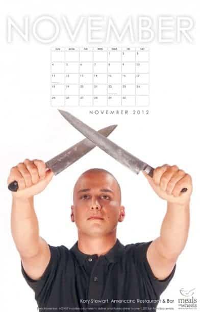 "2012 ""Chefs of the Bay Area"" calendar - Kory Stewart, Americano Restaurant and Bar"