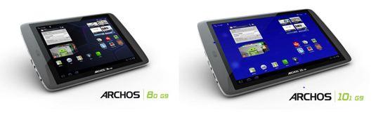 Archos G9 tablet range