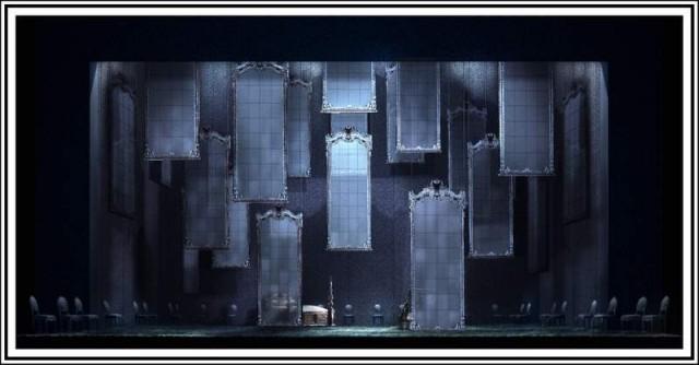 Don Giovanni set design by Alessandro Camera.