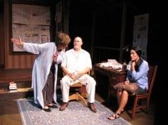 Lillian Bogovich as Violet Weston, Michael J. West as Beverly Weston, Alika Ululani Spencer as Johnna Moneveta