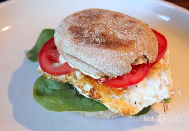 'Break the Rules' egg muffin sandwich