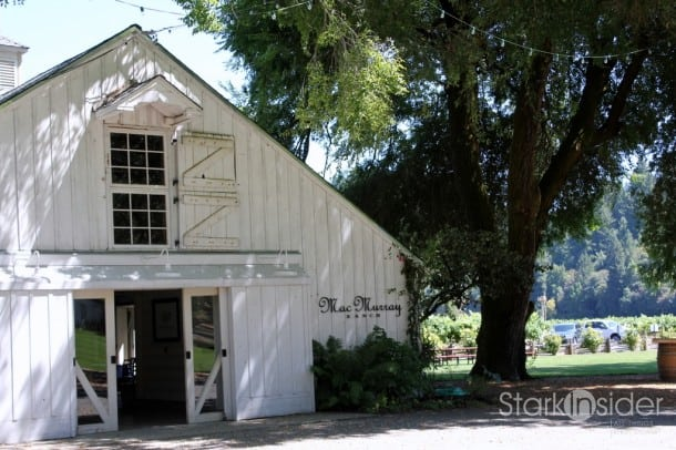 "MacMurray Ranch Winery: named after Fred MacMurray (""My Three Sons"") who purchased the 150 acre property in Sonoma County in 1941 to raise prize-winning cattle."