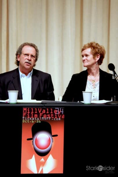 MVFF founder Mark Fishkin and director of programming Zoe Elton at a press conference this morning at Doly Labs SF.