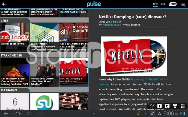 Pulse on the Galaxy Tab 10.1