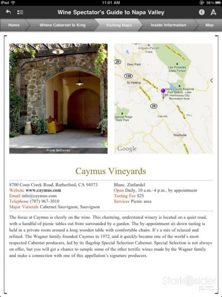 Caymus Vineyards - WS App
