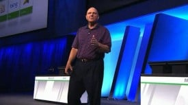 Steve Ballmer giving keynote at BUILD 2011 in Anaheim, California.