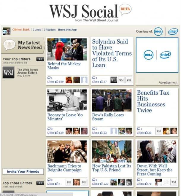 WSJ on Facebook - harbinger?